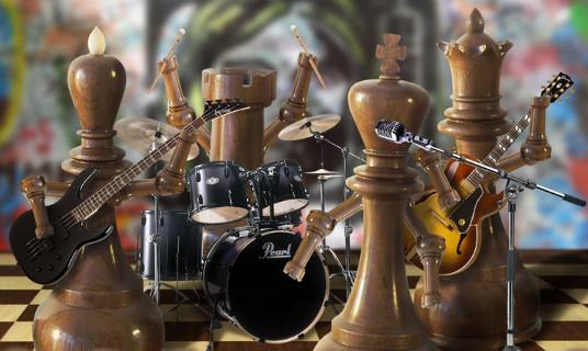 Luxe houten Staunton schaakstukken