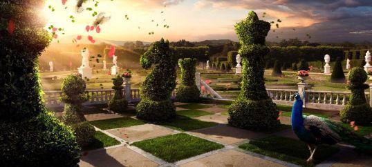 Buiten en groot schaakspel
