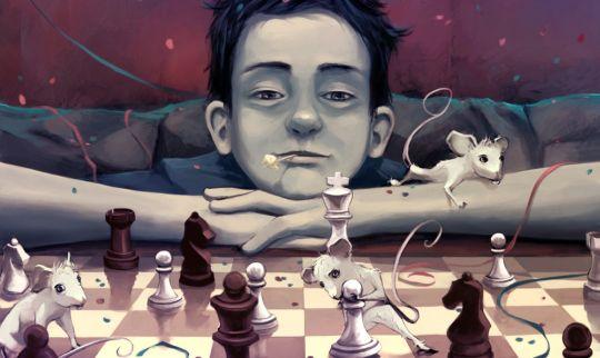 Houten toernooi schaakstukken