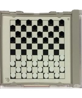 Checkers set magnetic 14 x 12.5 cm