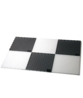 Plastic chessboard outdoor large for king height 41 and 64 cm