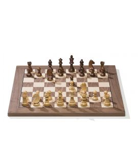 DGT e-Board USB Walnut/Maple with Timeless pieces (electronic chessboard)