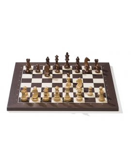 DGT e-Board USB Wenge/Maple with Timeless pieces (electronic chessboard)
