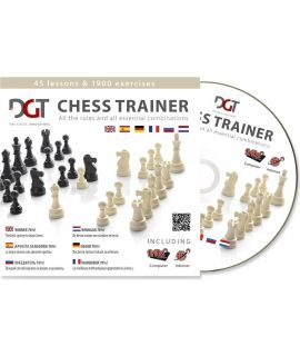 DGT Chess Trainer: Steps Method tutor 1 - 3 and chess program Fritz 9 (6 languages)