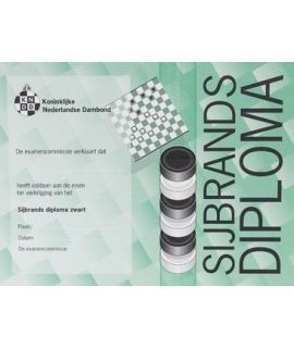 Sijbrands-diploma zwart - Niveau 3