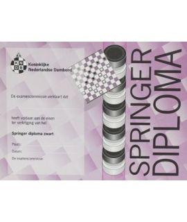 Springer-diploma zwart - Niveau 5