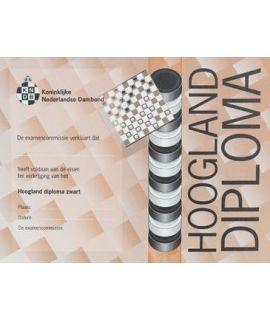 Hoogland-diploma zwart - Niveau 6