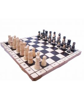 Pop chess set 55 x 28 cm - king height 110 mm
