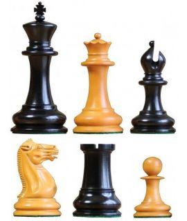 Original Staunton model 1851 - ebbenhouten schaakstukken - koningshoogte 114 mm (# 9)