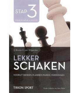 Lekker schaken stap 3 vooruitdenken - plannen maken - verdedigen door Cor van Wijgerden en Rob Brunia