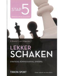 Lekker schaken stap 5 strategie - koningsaanval - eindspel door Cor van Wijgerden en Rob Brunia