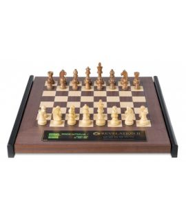 DGT Revelation II chess computer with Timeless chess pieces