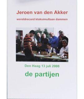 Wereldrecord klok simultaan dammen - J. van den Akker