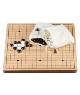 Go-Game 36 cm MDF board and stones flat glass