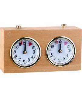 Light wooden analog chess clock