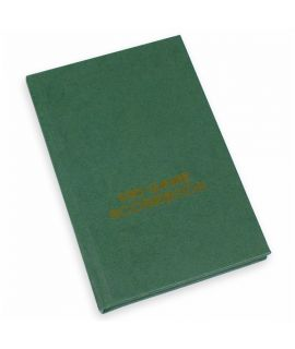 Hard cover scorebook - green