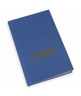 Hard cover scorebook - blue