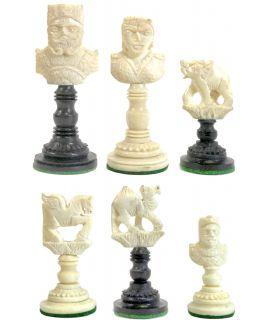 Alexander - Poros benen schaakstukken maat 5 verzwaard & luxe houten doos