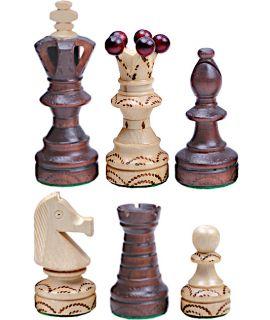 Extra grote parel schaakstukken deluxe 110 mm (#8)