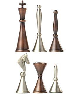 Art nouveau messing schaakstukken (# 8)