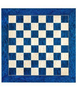 Hoogglans schaakbord blauw 55 cm - velden 55 mm (#6)