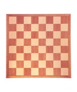 Vouwbaar schaakbord 48,5 cm met hout print - velden 55 mm - maat 6