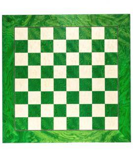 Hoogglans schaakbord groen 50 cm - velden 50 mm (#5)