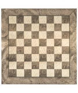 Hoogglans schaakbord grijs 55 cm - velden 55 mm (#6)