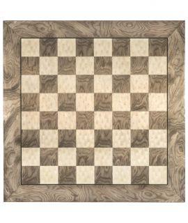Hoogglans schaakbord grijs 50 cm - velden 50 mm (#5)