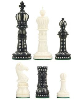 Old English bone chess pieces size 6 weighted