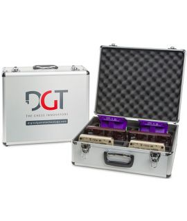 Universal storage case for 10 DGT chess clocks
