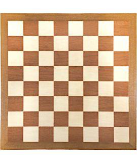 Luxury chessboard 50 cm mahogany - maple fields with teak edge - squares 50 mm