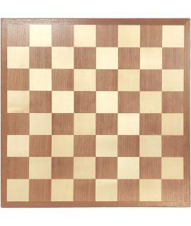 Luxe schaakbord 60 cm mahonie - esdoorn - velden 70 mm - maat 9