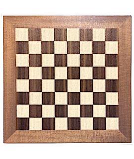 Luxury chessboard 30 cm mahogany - maple fields with teak edge - squares 30 mm