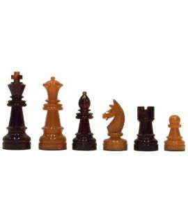 Vintage celluloid chess pieces - 83 mm king height - size 3 - VERY RARE