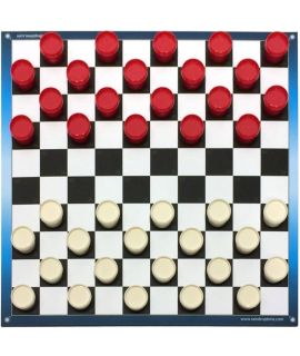 School checkers set with notation - size 2