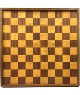 Antique wooden checkers board 48 cm - field size 45 mm - size 6