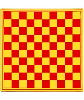Checkers board 31 cm plastic red and yellow - squares 29 mm