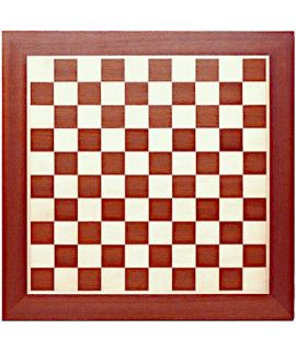 Dambord 48 cm mahonie/esdoorn - velden 40 mm