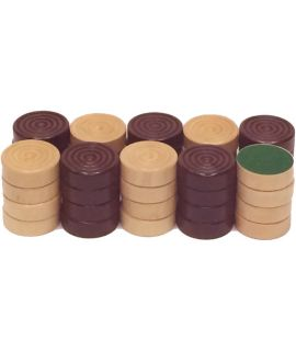 Checkers 48 mm 2 x 20 painted rubberwood - size