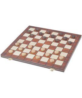 Checkers set voor op reis 40 cm - 8 x 8 velden