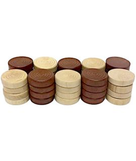 Checkers brown and white 30 mm 2 x 20 pieces in cardboard box - size 4