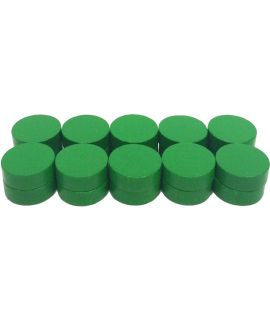 Checkers 20 painted green - 21 x 7 mm