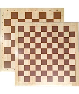 Chess and draughtsboard 60 cm printed - squares 53 mm and 66 mm - size 9