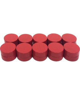 Checkers 20 painted red - 21 x 7 mm