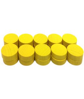 Checkers 20 painted yellow - 21 x 7 mm