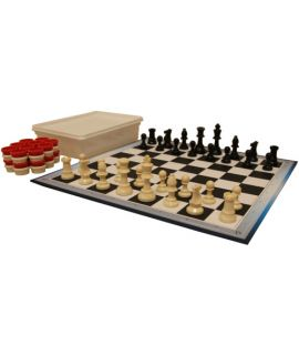 Chess and checkers set Staunton 2 - for school chess