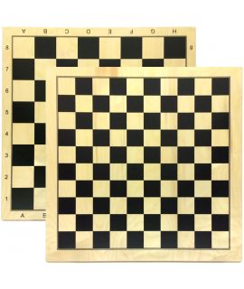 Chess and draughtsboard 48 cm black printed maple - squares 50 mm and 40 mm