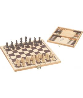 Chess and Backgammon set 29 x 14.5 cm printed fields