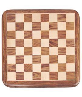 Luxe schaakbord 43 cm chikri - palissander - velden 45 mm - maat 4